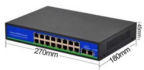 BS1621GL 16 port PoE Switch