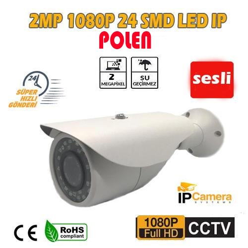2.0 MP 1080P 24 SMD LED BULLET IP KAMERA SES DESTEKLİ PL-1807