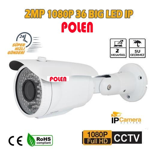 2 MP 1080P 36 BİG LED 3.6 MM DIŞ MEKAN iP GÜVENLİK KAMERASI PL-8583