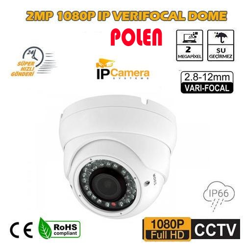 2MP 1080P IR Dome 2.8 - 12mm Varifocal Lens IP Kamera PL-5280C