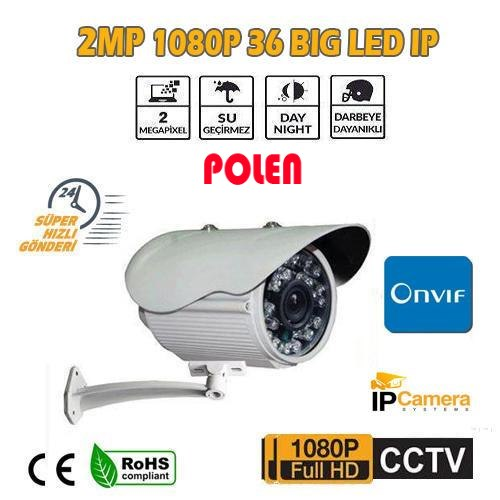 2 MP 1080P 36 BİG LED DIŞ MEKAN IP GÜVENLİK KAMERASI PL-3115