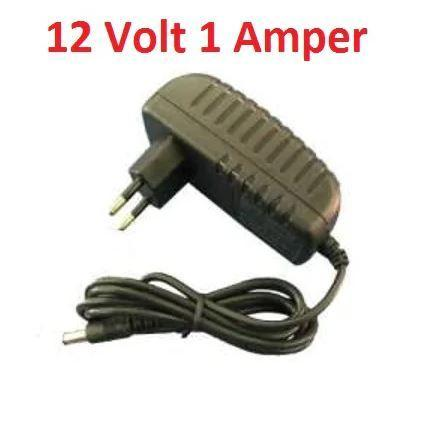 12 Volt 1 Amper Plastik Switch Adaptör ( PL-5690 )